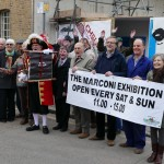 Opening of exhibition by Chelmsford town crier Tony Appleton