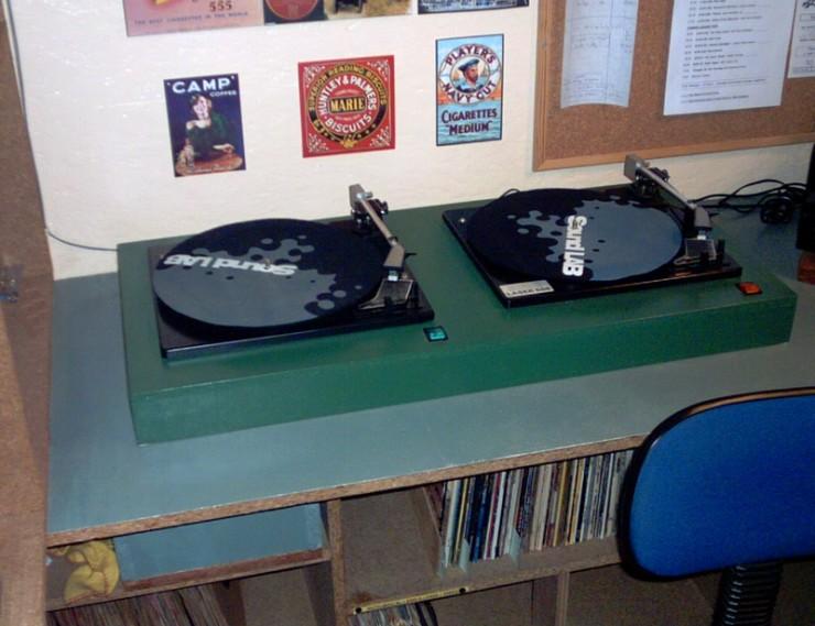 The record decks