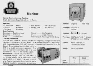 Marine Monitor