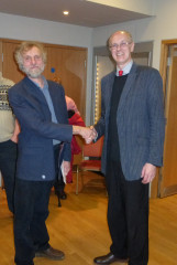 Geoff Bowles (l) with Nick Wickenden
