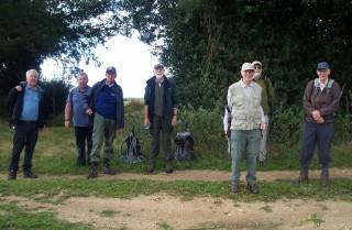Airadio Ramblers in August 2014. L to R; Derek Juniper; John Little; Dave Neylon; John Rendell; Len Briggs; Mike Hopper; Mike Rowe.